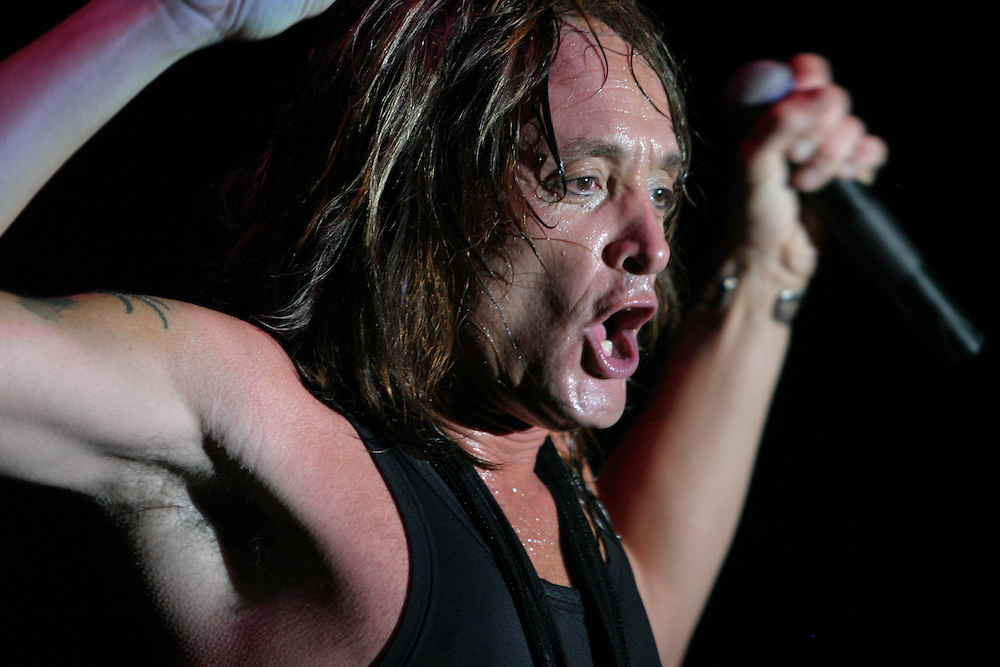 Kevin DuBrow of Quiet Riot performs at Myth in Saint Paul, MN. (Charles Hall/challphotos.com)