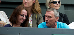 LONDON, ENGLAND - Saturday, July 2, 2011: Jiri Kvit and his wife Pavla Kvitova, parents of Petra Kvitova during the Ladies' Singles Final on day twelve of the Wimbledon Lawn Tennis Championships at the All England Lawn Tennis and Croquet Club. (Pic by David Rawcliffe/Propaganda)