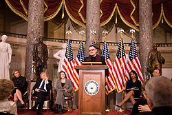 Bono at the memorial service of Representative Tom Lantos, the only holocaust survivor to have served in Congress. Bono joined Ban Ki-Moon-Secretary General of the UN, Elie Wiesel-Nobel Peace Prize Winner, Condoleezza Rice-Secretary of State, Nancy Pelosi-Majority Leader, the head of the Knesset and many other U.S. and World Dignitaries. After his comments, Bono led the audience made up of Congress, Representatives, Senators and Ambasadors in singing a song writted by a friend of Bono's. The song was All You Need Is Love.