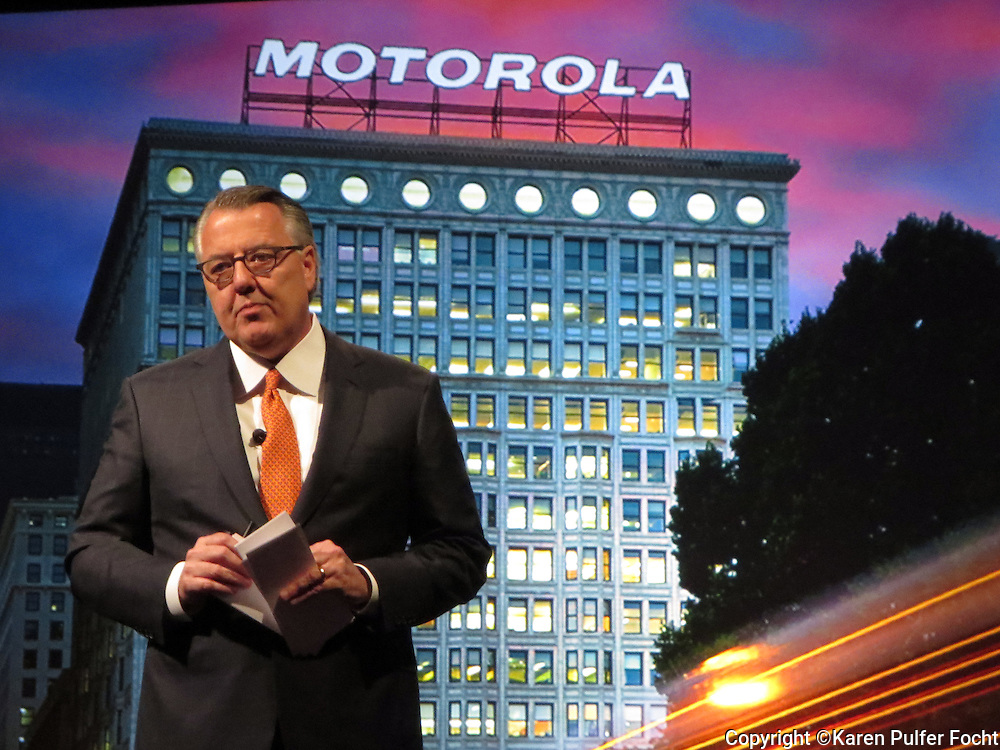 Motorola Solutions CEO Greg Brown, at the Motorola Solutions Expo in Las Vegas, Nevada 2016.