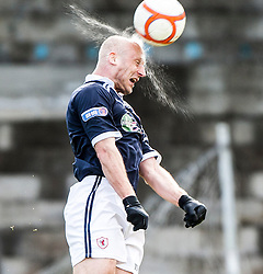 Raith Rovers Simon Mensing.<br /> Raith Rovers 0 v 0 Falkirk, 27/4/2013.<br /> &copy; Michael Schofield.