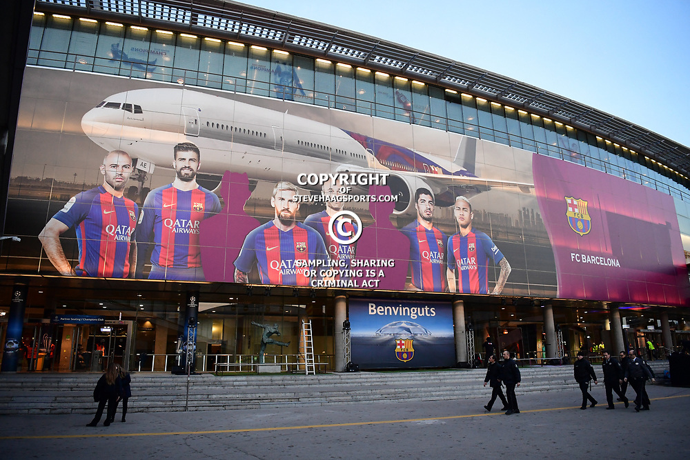 View of the stadium before the Uefa Champions League Round of 16 second leg match between FC Barcelona and Paris Saint Germain at Camp Nou on March 8, 2017 in Barcelona, Spain. (Photo by Dave Winter/Icon Sport)