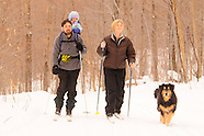 Cross Country skiing with dog