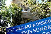 Old sandstone house and sign. Kirribilli, Sydney, Australia