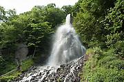 Trusetaler Wasserfall, Thüringen, Deutschland. .Trusetal Falls, Meiningen, Thuringia, Germany