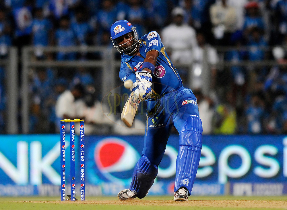 Kieron Pollard of the Mumbai Indians bats during match 22 of the Pepsi Indian Premier League Season 2014 between the Mumbai Indians and the Kings XI Punjab held at the Wankhede Cricket Stadium, Mumbai, India on the 3rd May  2014<br /> <br /> Photo by Pal Pillai / IPL / SPORTZPICS<br /> <br /> <br /> <br /> Image use subject to terms and conditions which can be found here:  http://sportzpics.photoshelter.com/gallery/Pepsi-IPL-Image-terms-and-conditions/G00004VW1IVJ.gB0/C0000TScjhBM6ikg