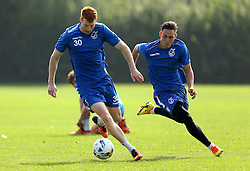 Rory Gaffney and Connor Roberts of Bristol Rovers take part in training - Mandatory by-line: Robbie Stephenson/JMP - 15/09/2016 - FOOTBALL - The Lawns Training Ground - Bristol, England - Bristol Rovers Training
