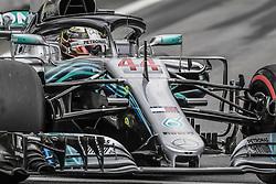 November 10, 2018 - Sao Paulo, Brazil - LEWIS HAMILTON in the Mercedes W09 Hybrid EQ Power+ team Mercedes car during the 2018 Formula One World Championship, Brazil Grand Prix. Hamilton took pole position. (Credit Image: © Hoch Zwei via ZUMA Wire)