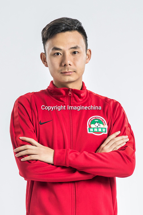 **EXCLUSIVE**Portrait of Chinese soccer player Feng Zhuoyi of Henan Jianye F.C. for the 2018 Chinese Football Association Super League, in Zhengzhou city, central China's Henan province, 21 February 2018.