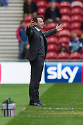 Nottingham Forest manager Dougie Freedman during the Sky Bet Championship match between Middlesbrough and Nottingham Forest at the Riverside Stadium, Middlesbrough, England on 23 January 2016. Photo by George Ledger.