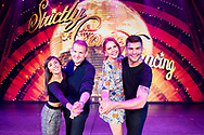 Sam Exworth and Imogen Ellis who have been supported by Teenage Cancer Trust celebrate P&amp;O Cruises raising &pound;100,000 with BBC's Strictly Come Dancing stars Aljaz Skorjanec &amp; Janette Manrara<br />