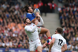 February 2, 2020, Saint Denis, Seine Saint Denis, France: The Center of French Team GAEL FICKOU in action during the Guinness Six Nations Rugby tournament between France and  England at the Stade de France - St Denis - France. France won 24-17 (Credit Image: © Pierre Stevenin/ZUMA Wire)