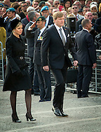 Amsterdam-04-5-2016 <br /> <br /> King Willem-Alexander and Queen Maxima attend the Death Remembrance at the National Monument.<br /> <br /> <br /> COPYRIGHT/Royalportraits Europe/BERNARD RUEBSAMEN