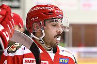 2020-02-12 | Ljungby, Sweden: Troja-Ljungby (3) Kevin Karlsson during the game between IF Troja / Ljungby and Huddinge IK at Ljungby Arena ( Photo by: Fredrik Sten | Swe Press Photo )<br /> <br /> Keywords: Ljungby, Icehockey, HockeyEttan, Ljungby Arena, IF Troja / Ljungby, Huddinge IK, fsth200212, ATG HockeyEttan, Allettan