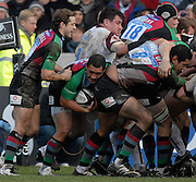 Twickenham, GREAT BRITAIN,  Quins Tani FUGA, with the ball as the forwards drive, during the Guinness Premiership Game, Harlequins [Quins] vs Leicester Tigers, at the Twickenham Stoop 06/01/2008 [Mandatory credit Peter Spurrier/ Intersport Images].