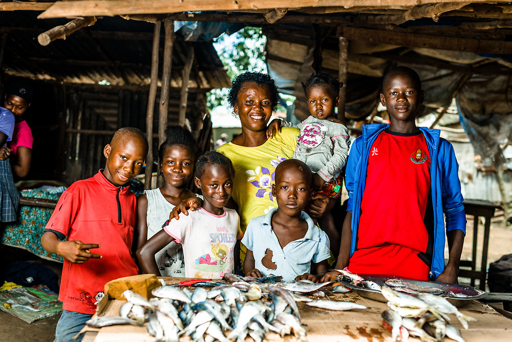 Fish seller whose sister - a nurse and the family&rsquo;s breadwinner - died of Ebola leaving her to care for the whole family. She lives in Bo.<br />