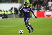 Anderlecht Defender Dennis Appiah during the UEFA Europa League Quarter-final, Game 1 match between Anderlecht and Manchester United at Constant Vanden Stock Stadium, Anderlecht, Belgium on 13 April 2017. Photo by Phil Duncan.