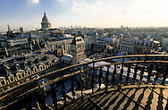 France. Paris. elevated view. Pantheon hill, view from the Sorbonne church