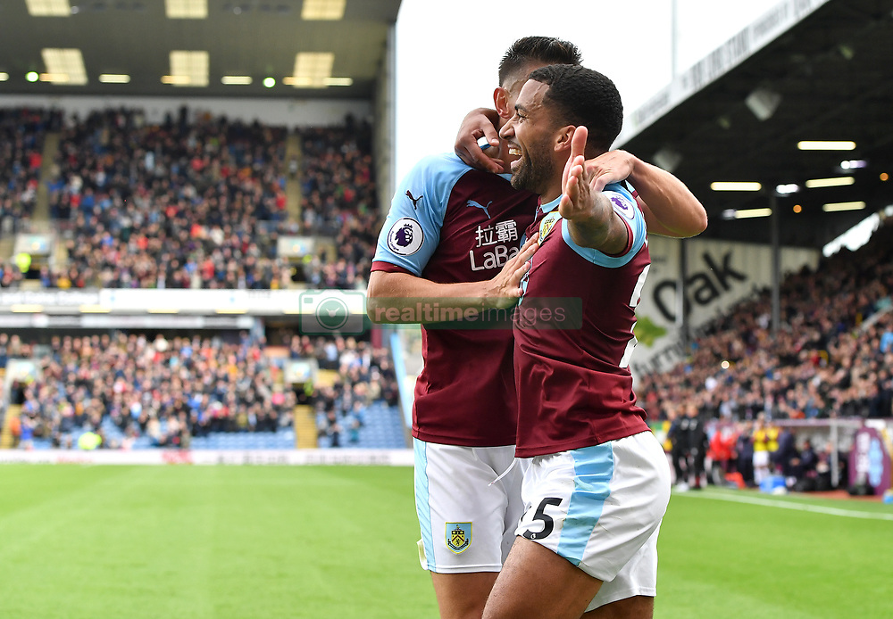 32bcb68c152 Burnley s Aaron Lennon (right) celebrates scoring his side s second goal of  the game during.