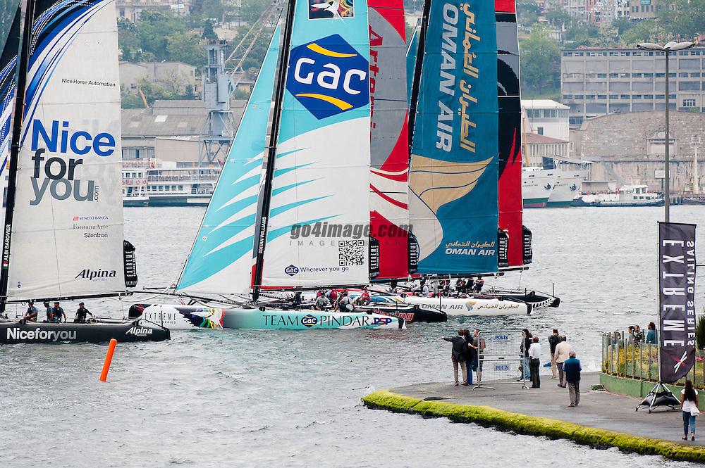 June 2011 Istanbul Turkey, Extreme Sailing Series, Racing on the Bosphorus