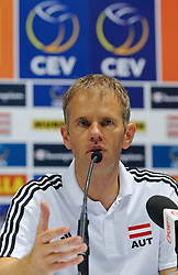 10.09.2011, Europaeische Volleyball Meisterschaft 2011, Stadthalle, Wien, AUT, Oesterreich vs Slowenien, im Bild Michael Warm Head Coach Austria // during the european Volleyball Championship Austria vs Slovenia , at Stadthalle, Vienna, 2011-09-10, EXPA Pictures © 2011, PhotoCredit: EXPA/ M. Gruber