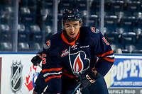 KELOWNA, BC - FEBRUARY 23: Montana Onyebuchi #5 of the Kamloops Blazers warms up against the Kelowna Rockets at Prospera Place on February 23, 2019 in Kelowna, Canada. (Photo by Marissa Baecker/Getty Images)