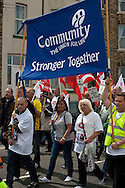 Corus Save Our Steel March Redcar..© Martin Jenkinson, tel 0114 258 6808 mobile 07831 189363 email martin@pressphotos.co.uk. Copyright Designs & Patents Act 1988, moral rights asserted credit required. No part of this photo to be stored, reproduced, manipulated or transmitted to third parties by any means without prior written permission