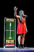 Beatrice Dimaculangan, a contestant in The  Poetry Out Loud, Regional 5,  competition at SOPAC.