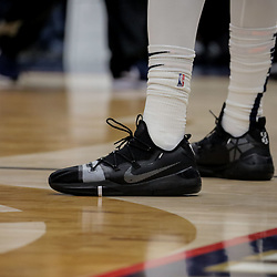 Nov 19, 2018; New Orleans, LA, USA; A detail of shoes worn by New Orleans Pelicans forward Anthony Davis during the second half against the San Antonio Spurs at the Smoothie King Center. Mandatory Credit: Derick E. Hingle-USA TODAY Sports