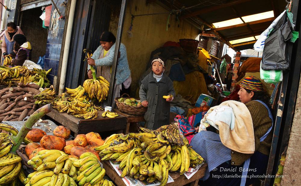 Market scenes, La Paz, Bolivia
