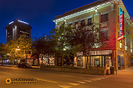 Downtown at twilight in Billings, Montana, USA