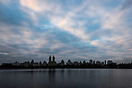 Clouds seen over the Central Park Reservoir.