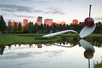 Walker Art Institute outdoor garden ?Spoon and Cherry? by Claus.Oldenburg in Minneapolis, Minnesota.