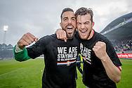 22-05-2016 VOETBAL: WILLEM II - NAC BREDA:TILBURG<br /> Promotie/degradatiewedstrijd<br /> Kostas Lamprou van Willem II en Erik Falkenburg van Willem II