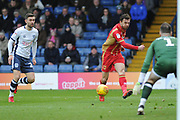 Milton Keynes Dons Midfielder, Alex Gilbey (8) during the EFL Sky Bet League 2 match between Bury and Milton Keynes Dons at the JD Stadium, Bury, England on 12 January 2019.