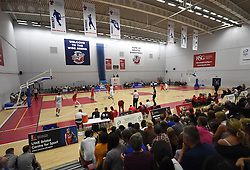 Action resumes in the second half of BBL fixture between Bristol Flyers and Surrey Scorchers - Photo mandatory by-line: Paul Knight/JMP - Mobile: 07966 386802 - 19/09/2015 - BASKETBALL - SGS Wise Arena - Bristol, England - Bristol Flyers v Surrey Scorchers - British Basketball League