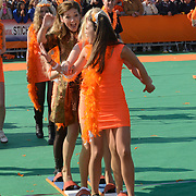 Koningsdag 2014 in de Rijp, het vieren van de verjaardag van de koning. / Kingsday 2014 in the Rijp , celebrating the birthday of the King. <br /> <br /> <br /> Op de foto / On the photo:  Prinses Aimee /  Princess Aimee