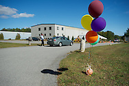 20130929, Sunday, September 29, 2013, Dartmouth, MA, USA; The growing My Brother's Keeper family celebrated the dedication, blessing and open house of their new facility in Dartmouth Massachusetts on Sunday afternoon September 29, 2013.<br /> <br /> Based in Easton Massachusetts My Brother's Keeper sought to expand their ability to serve the poor by expanding southward into an area of the state known as the South Coast. Sandwiched between two cities Fall River and New Bedford, the My Brother's Keeper Dartmouth Facility looks to expand their mission of service and volunteerism to both cities and the many residents of the South Coast.<br /> <br /> In order of appearance at the podium:<br /> Ryan Thorley, Operations Manager, Easton Facility<br /> Erich Miller, President MBK<br /> Josh Smith, Director, Dartmouth Facility<br /> Terry & Jim Orcutt, co-founders of MBK<br /> Bishop George W. Coleman, Diocese of Fall River<br /> <br /> ( 2013 © lightchaser photography )