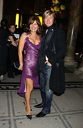 Hairdresser NICKY CLARKE and his former wife LESLEY CLARKE at the 2005 British Fashion Awards were held at The V&A museum, London on 10th November 2005.<br />