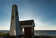 Pemaquid Point Light Station Bell House, Bristol, Maine, USA.