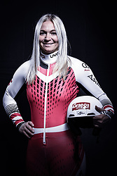 12.10.2019, Olympiahalle, Innsbruck, AUT, FIS Weltcup Ski Alpin, im Bild Ariane Rädler // during Outfitting of the Ski Austria Winter Collection and the official Austrian Ski Federation 2019/ 2020 Portrait Session at the Olympiahalle in Innsbruck, Austria on 2019/10/12. EXPA Pictures © 2020, PhotoCredit: EXPA/ JFK