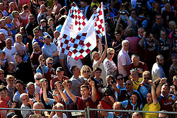 Burnley fans gather outside the Town Hall - Mandatory by-line: Matt McNulty/JMP - 09/05/2016 - FOOTBALL - Burnley Town Hall - Burnley, England - Burnley FC Championship Trophy Presentation