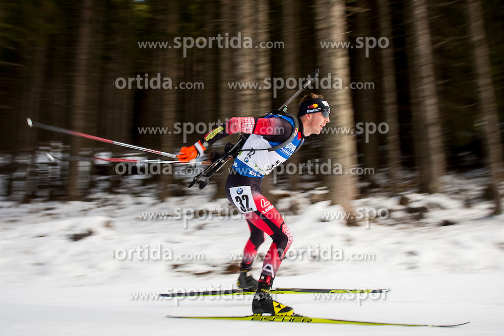 Sven Grossegger (AUT) during Men 10 km Sprint at day 1 of IBU Biathlon World Cup 2015/16 Pokljuka, on December 17, 2015 in Rudno polje, Pokljuka, Slovenia. Photo by Urban Urbanc / Sportida