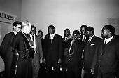 1965 - African Students on a visit to Dublin meet Archbishop McQuaid