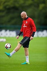 CARDIFF, WALES - Friday, September 2, 2016: Wales' James Collins during a training session at the Vale Resort ahead of the 2018 FIFA World Cup Qualifying Group D match against Moldova. (Pic by David Rawcliffe/Propaganda)