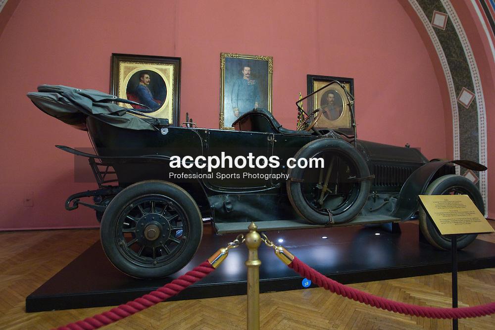 19 December 2008:  The 1911 Gräf & Stift Bois de Boulogne tourer in which Archduke Franz Ferdinand was shot as displayed in the Heeresgeschictliches Museum (Military History Museum) in Vienna, Austria.