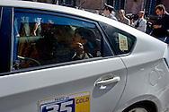 Roma 2 Ottobre 2013<br /> Mara Carfagna deputata del  Partito della Libertà, esce dal senato e si allontana in taxi<br /> Mara Carfagna deputy of the Party of Freedom, leaves by the Senate and goes away by taxi