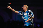 Kevin Burness during his 2nd round match with Gary Anderson during the PDC World Championship darts at Alexandra Palace, London, United Kingdom on 14 December 2018.