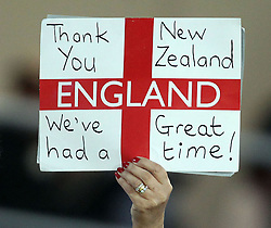 © SPORTZPICS/ Seconds Left Images 2011 - England fan thanks New Zealand for RWC -  Wales v Australia - Rugby World Cup 2011 - Bronze Final - Eden Park - Auckland - New Zealand - 21/10/2011 -  All rights reserved..