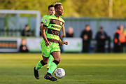 Forest Green Rovers Junior Mondal(25) on the ball during the EFL Sky Bet League 2 second leg Play Off match between Forest Green Rovers and Tranmere Rovers at the New Lawn, Forest Green, United Kingdom on 13 May 2019.